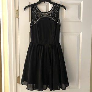 Black chiffon homecoming dress